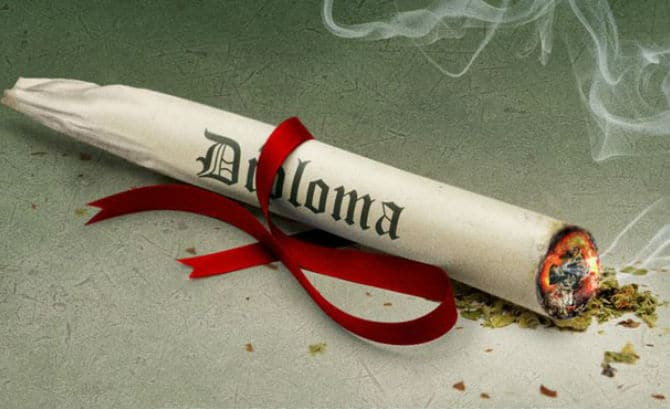 Teens hooked on drugs have less chance for earning a diploma.