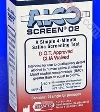 Alco-Screen 02 Box of 24 Test Strips