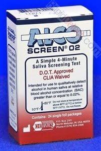Alco-Screen 02 Box of 24 Test Strips