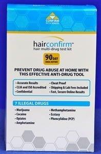HairConfirm Regular Hair Drug Test 7 Drugs