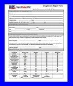 Rapid Detect Drug Screen Results Form