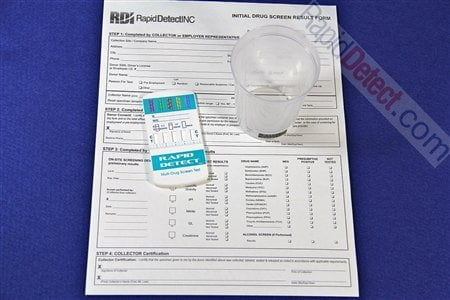 Rapid Detect Dip Drug Test With Collection Cup And Report Form